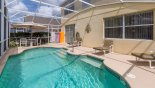 Orlando Villa for rent direct from owner, check out the Pool deck with huge parasol for welcome shade