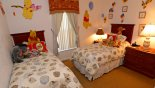 Villa rentals near Disney direct with owner, check out the Winnie the Pooh themed twin bedroom 4