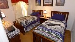 Spacious rental Highlands Reserve Villa in Orlando complete with stunning Sports themed twin bedroom 3