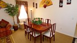 Dining area seating 6 persons with this Orlando Villa for rent direct from owner