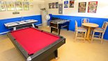 Games room with pool table, air hockey and table foosball from Silver Maple + 1 Villa for rent in Orlando