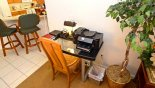 Desk with printer from Highlands Reserve rental Villa direct from owner