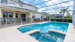 Canterbury 11 Villa rental near Disney with View of pool & spa towards covered lanai