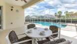 Villa rentals in Orlando, check out the View from covered lanai onto pool & spa