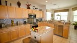 Villa rentals near Disney direct with owner, check out the Kitchen with Nook beyond