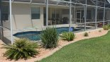 Villa rentals in Orlando, check out the Pool and deck from outside pool cage