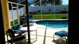 POOL FROM FAMILY ROOM from Madison 9 Villa for rent in Orlando