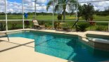 Pool & spa with spectacular golf course view with this Orlando Villa for rent direct from owner