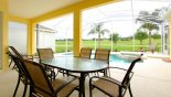 Pool Deck Alfresco dining for 6 from Wellesley 6 Villa for rent in Orlando