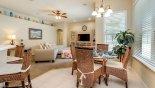 Cambridge 11 Villa rental near Disney with View of breakfast nook towards family room