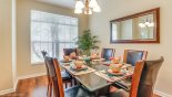 Villa rentals in Orlando, check out the Dining room with seating for 6