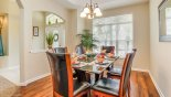 Villa rentals near Disney direct with owner, check out the Dining room with views onto front garden