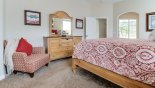 Master 1 bedroom with dresser & mirror with this Orlando Villa for rent direct from owner
