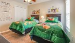 Bedroom 4 with twin beds with this Orlando Villa for rent direct from owner