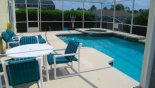 View showing patio furniture with this Orlando Villa for rent direct from owner