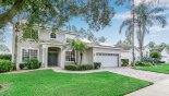 Another view of villa from street from Santa Barbara 3 Villa for rent in Orlando