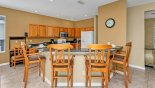 Spacious rental Highlands Reserve Villa in Orlando complete with stunning Kitchen breakfast bar with 4 bar stools