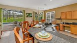 Kitchen viewed towards breakfast nook from Highlands Reserve rental Villa direct from owner