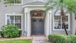 Villa rentals in Orlando, check out the Front entrance to villa