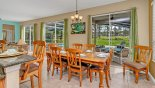 Breakfast nook with views onto pool deck from Santa Barbara 3 Villa for rent in Orlando
