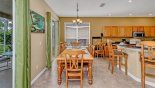 Villa rentals in Orlando, check out the View of breakfast nook offering seating up to up to 12 persons including breakfast bar