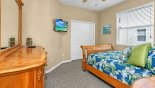 Villa rentals near Disney direct with owner, check out the Bedroom #5 with wall mounted LCD cable TV