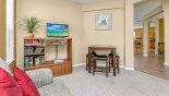 Spacious rental Highlands Reserve Villa in Orlando complete with stunning Front living room with LCD cable TV with DVD player, DVD's & selection of puzzles & board games