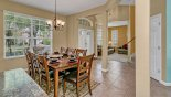 Dining area viewed towards entrance foyer & front living room from Highlands Reserve rental Villa direct from owner