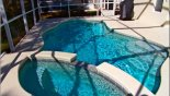 Villa rentals near Disney direct with owner, check out the Pool & spa showing gas BBQ (covered)