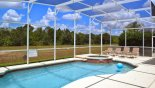 Spacious rental Highlands Reserve Villa in Orlando complete with stunning Large pool & spa with 4 sun loungers