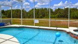 Large pool & spa with conservation woodland views from Highlands Reserve rental Villa direct from owner