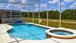 South west facing pool has sun on it all day - enjoy !! with this Orlando Villa for rent direct from owner