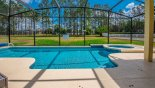 View of east facing pool & spa with conservation views from Marlborough 1 Villa for rent in Orlando