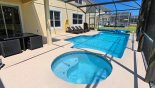 Villa rentals near Disney direct with owner, check out the View of pool & spa and 4 sun loungers