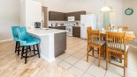 Villa rentals in Orlando, check out the Brand new kitchen with quartz counter tops and island breakfast bar