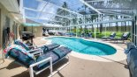 Villa rentals near Disney direct with owner, check out the Extended pool deck with 8 luxury sun loungers