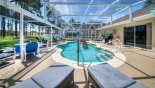 Spacious rental Highlands Reserve Villa in Orlando complete with stunning Pool deck with accessibility hoist for easy access to pool