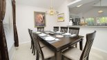 Villa rentals near Disney direct with owner, check out the Dining area with large dining table & seating for 8 persons