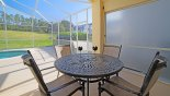 Villa rentals in Orlando, check out the Covered lanai with patio table and 4 chairs