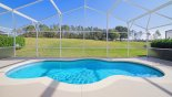 Large sunny east facing pool with stunning views of 9th hole - www.iwantavilla.com is your first choice of Villa rentals in Orlando direct with owner