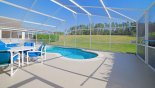 Villa rentals near Disney direct with owner, check out the Pool deck with additional table & 4 chairs