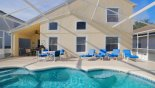 Pool deck gets the sun all day - shady lanai offers private alfresco dining - www.iwantavilla.com is the best in Orlando vacation Villa rentals