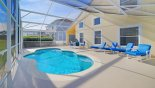 Spacious rental Highlands Reserve Villa in Orlando complete with stunning Pool deck with 4 sun loungers