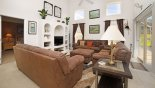 Sandlewood + 1 Villa rental near Disney with Family room with ample seating to watch a movie or play the PS3 on the 37