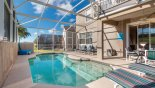 View of pool & covered lanai from Monticello 13 Villa for rent in Orlando