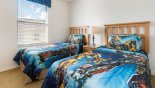 Twin bedroom 3 with Transformers themed bedding - www.iwantavilla.com is the best in Orlando vacation Villa rentals