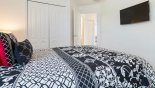 Orlando Villa for rent direct from owner, check out the Queen bedroom 4 with wall mounted 32
