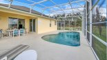 View of pool towards covered lanai from Wynnewood 2 Villa for rent in Orlando