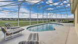 Villa rentals in Orlando, check out the South facing pool with stunning golf course views