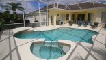 Spacious rental Highlands Reserve Villa in Orlando complete with stunning pool in sun